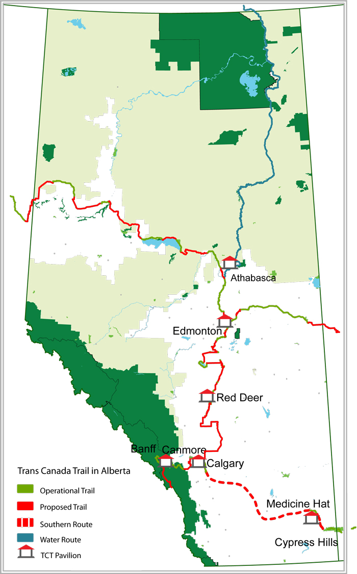 trans canada trail in alberta  alberta trail net information centre - alberta